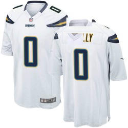 Nike Bobby Holly Los Angeles Chargers Men's Game White Jersey