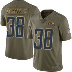 Nike John Brannon III Los Angeles Chargers Men's Limited Green 2017 Salute to Service Jersey