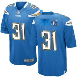 Nike Kevin McGill Los Angeles Chargers Men's Game Blue Powder Alternate Jersey