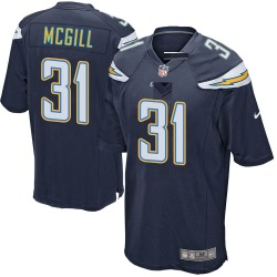 Nike Kevin McGill Los Angeles Chargers Men's Game Navy Team Color Jersey